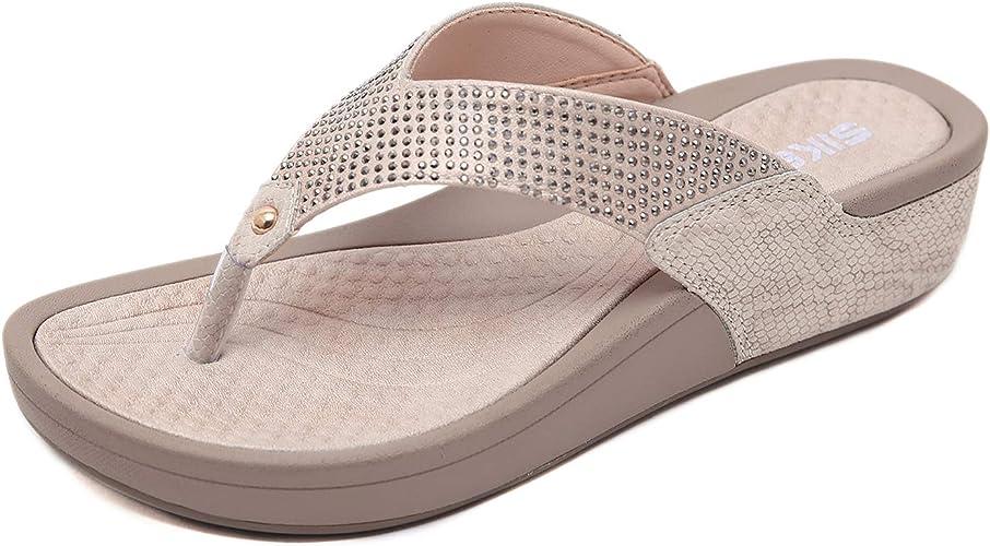 Zapzeal Sandalen Damen Sommer Beach Sandal Sommerschuhe Sandals Pu Leder Flip Sandalen Toe Separator 36 41eu Schuhe Handtaschen