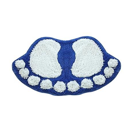 Happy Event Kawaii Fluffy - Felpudo, Cuarto de baño Ducha Habitaciones | pies Forma Agua Absorbe | Antideslizante Pad, Azul, 58.5x38.5cm: Amazon.es: Hogar
