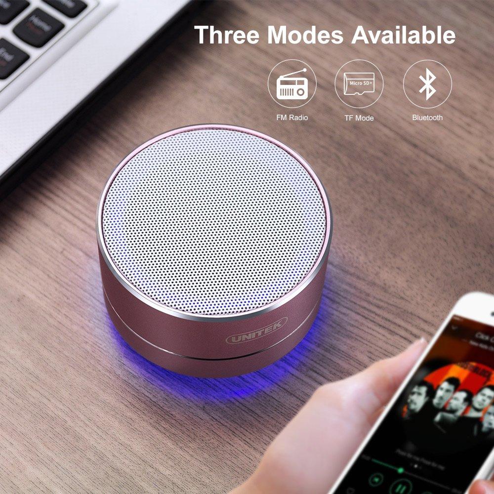 Unitek - Altavoz inalámbrico portátil Bluetooth estéreo de Aluminio: Amazon.es: Amazon.es