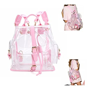 Amazon.com : Charminer Transparent Backpack Cute Knapsack Satchel ...