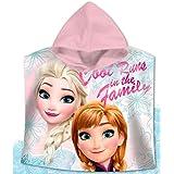 Disney Frozen Poncho Toalla Algodón, Blanco 60x3x60 cm 6 Unidades