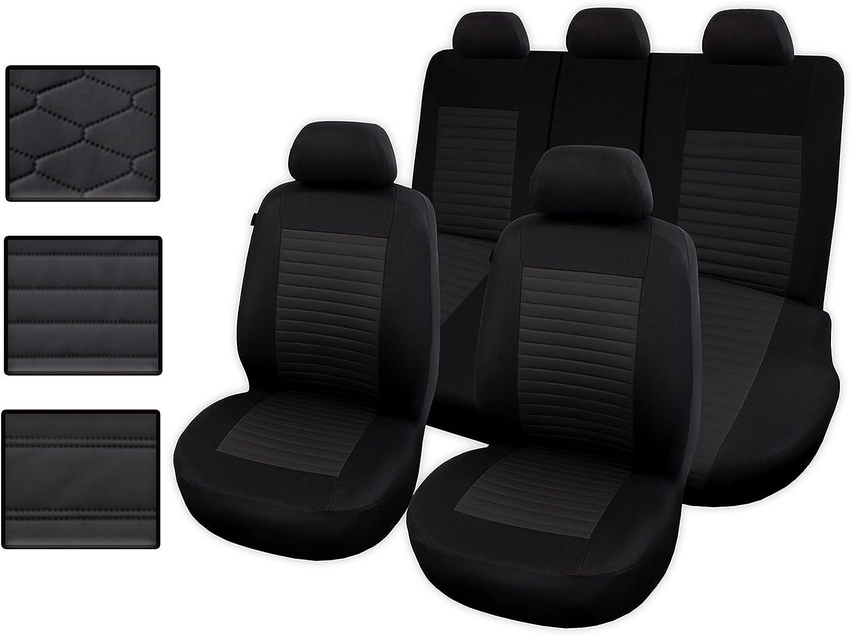 Auto universal PU Leder Set Autositzbez/üge Schonbez/üge Vordersitze mit Airbag System