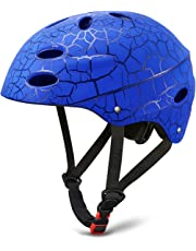 SKL Kids Helmet Skateboard Helmet Protective Gear Roller Skating Scooter Cycling Helmet with ABS shell for Children Youth (Black/Red/Blue, 52-56cm)