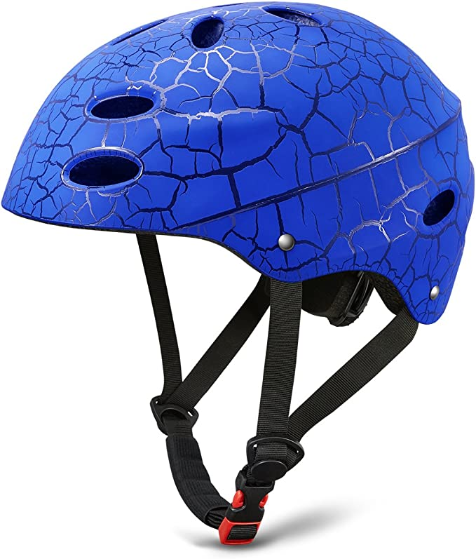 Imagen deSkate Helmet Skateboard Ajustable Helmet Roller Skate Scooter Casco Ciclista con Carcasa de ABS para niños y jóvenes (Negro, 52-56cm)