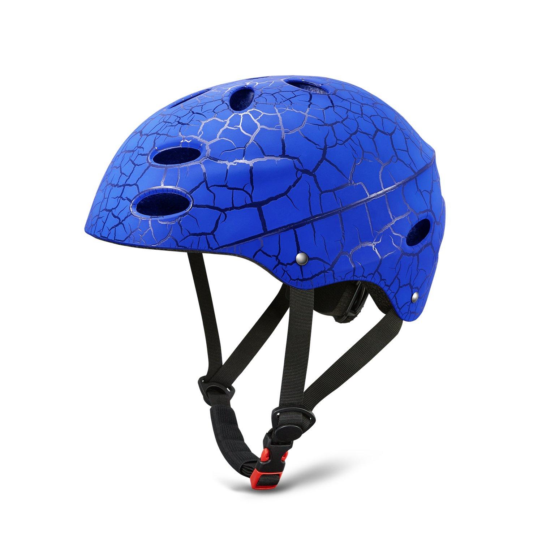 Skate Helmet Adjust Size Multi-impact ABS Shell for Kid / Youth Cycling /Skateboarding/ Skate Inline Skating /Rollerblading (Blue)