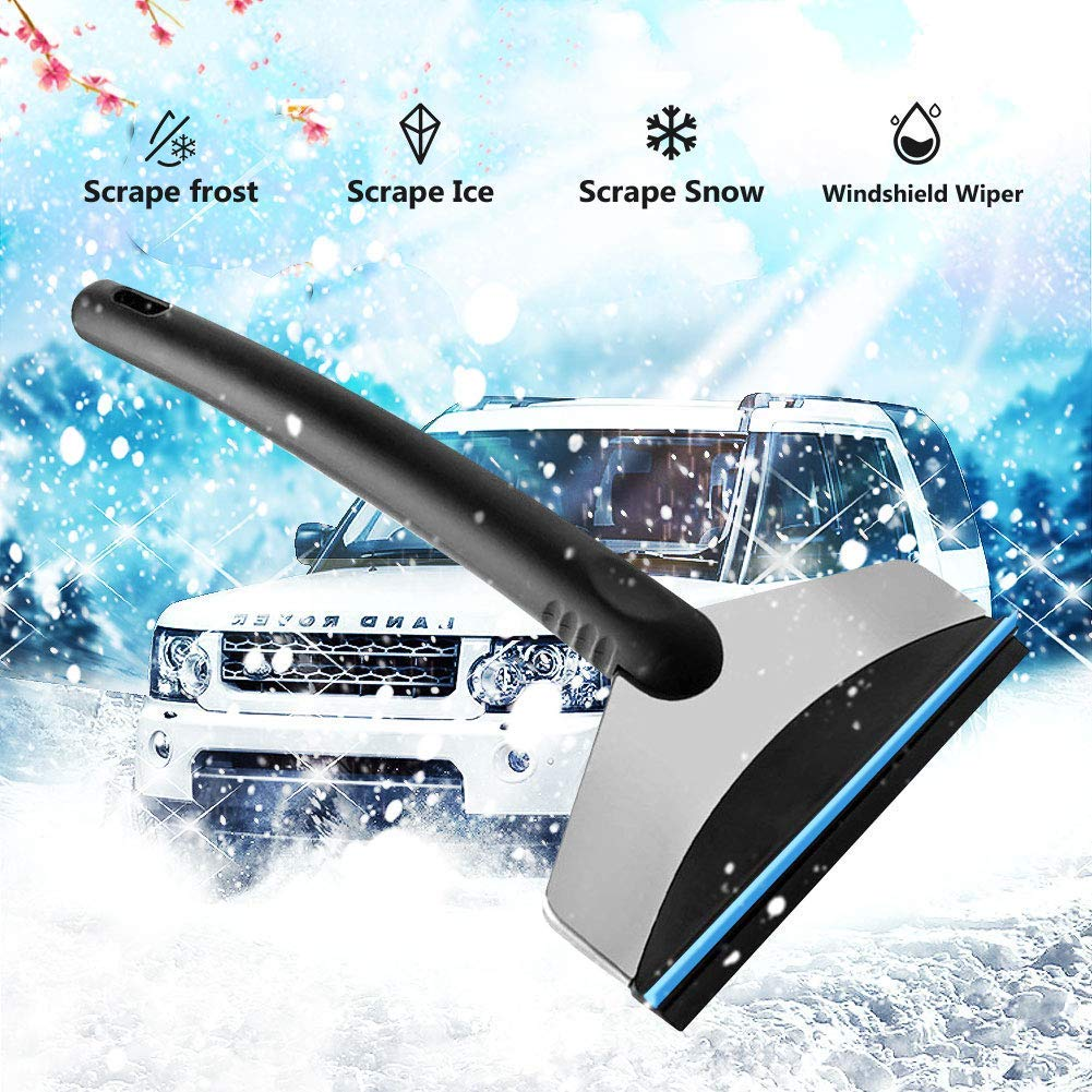 GUGUGI Upgraded Ice Scraper Snow Scraper Miracle Scraper Ice Crusher Water Squeegee with Rubber Blade for Car Windshield//Window Frost Snow Water Removing