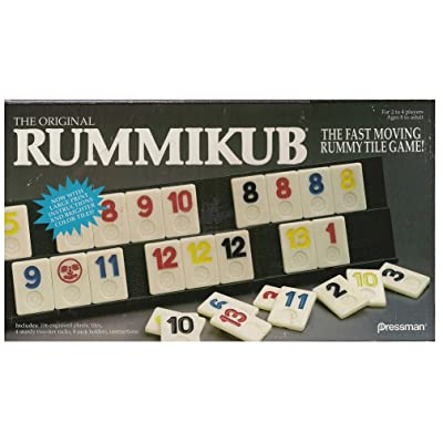 Pressman Rummikub-The-Original-Rummy-Tile-Game Toy-New: Toys & Games
