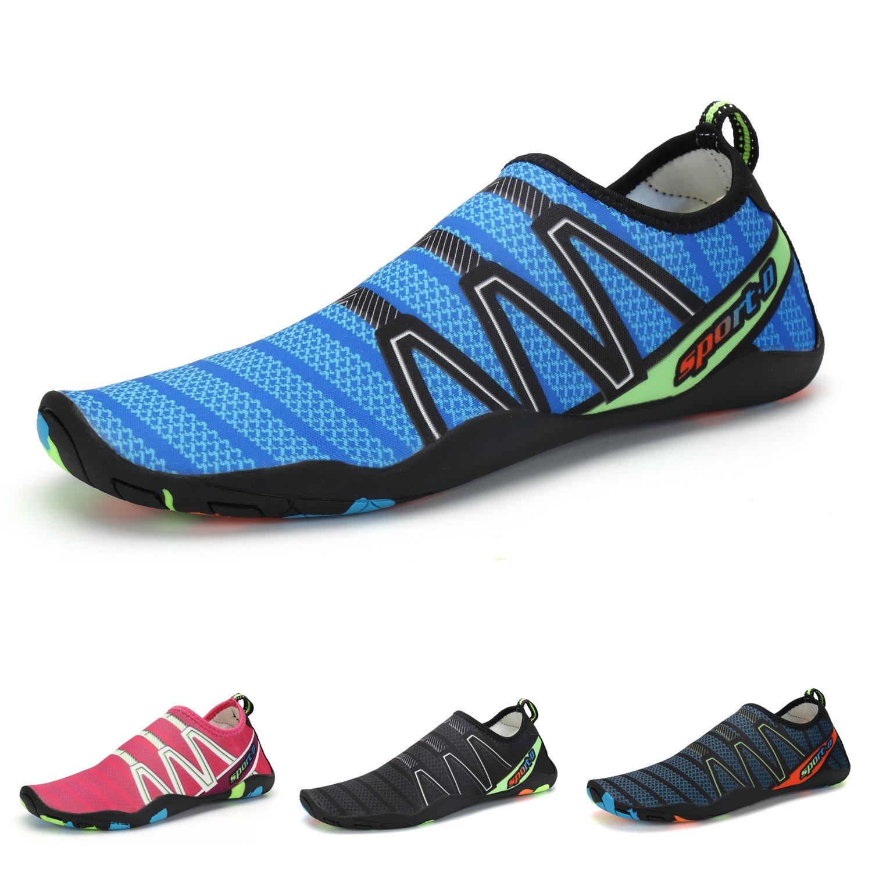 Easondea Unisex Water Shoes Barefoot Skin Aqua Socks Mens Womens Beach Shoes B07C5NW3NZ 10 B(M) US Women/8.5 D(M) US Men = EU 44|Blue