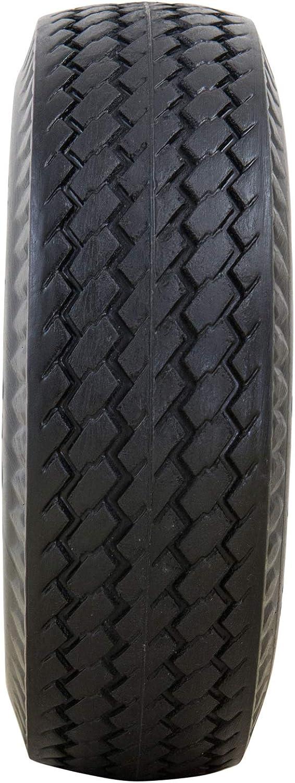 3.5 Centered Hub 3//4 Bearings All Purpose Utility Tire on Wheel Marathon 4.10//3.50-4 Flat Free