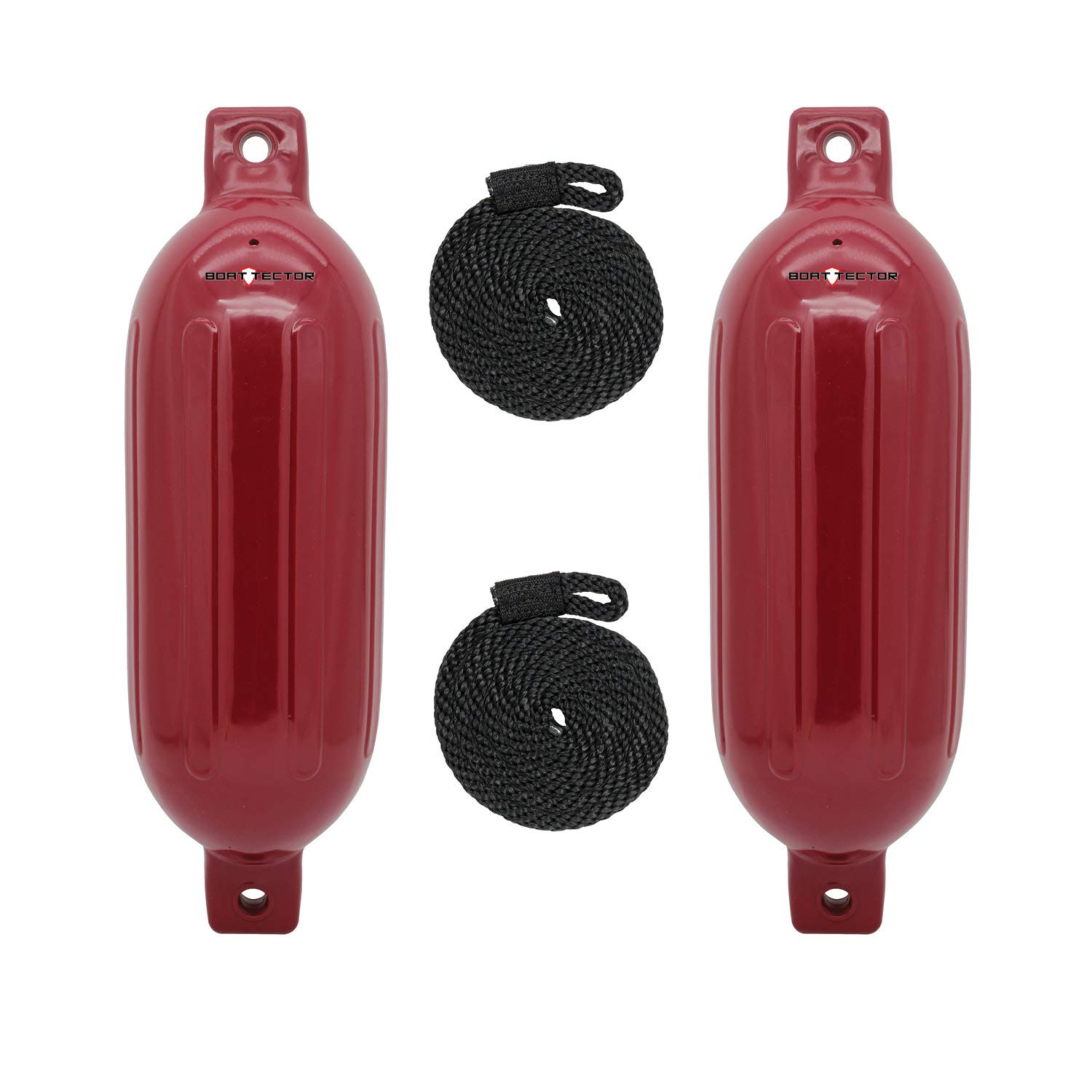 Extreme Max Standard 3006.7619 BoatTector Inflatable Fender Value 2-Pack-8.5'' x 27'', Cranberry