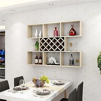DELLT- Weiß Ahorn Farbe Kreative Wandbehang Weinschrank Weinregal ...