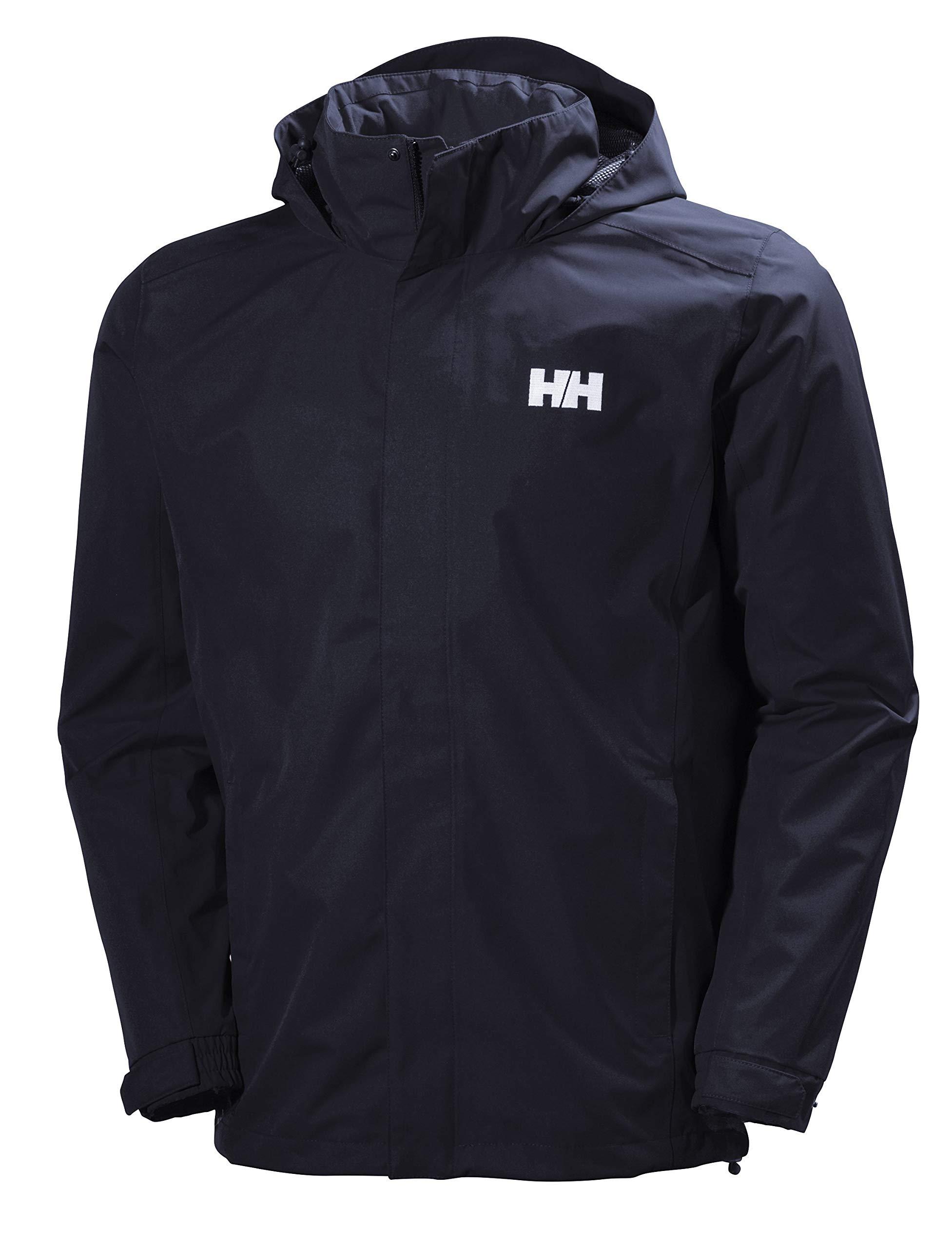 Helly Hansen Men's Dubliner Waterproof Windproof Breathable Rain Coat Jacket, 597 Navy, Large by Helly Hansen