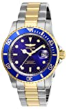 Invicta Men's Pro Diver Quartz Watch with Stainless Steel Strap, Two Tone, 20 (Model: 26972)