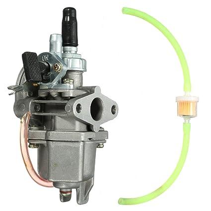 Wooya 47Cc 49Cc Carburador Carburador Cuádruple Bolsillo ATV Moto Gasolina Tubo Combustible Filtro Mini Moto