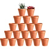 "20 Pcs 3"" Terracotta Clay Pots Pack of Small Craft Nursery Cactus Pot Water Permeable Succulent Plant Pottery Planter…"