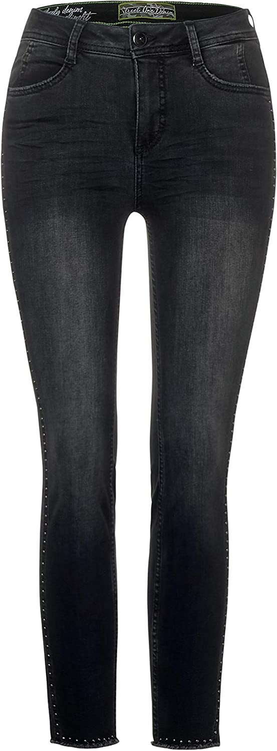 Street One Damen Jeans Authentic Black Wash (Schwarz)