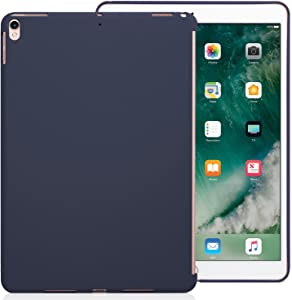 KHOMO iPad Air 3 10.5 (2019) / iPad Pro 10.5 (2017) Rear Case Hard Shell Compatible with Smart Cover / Keyboard - Midnight Blue