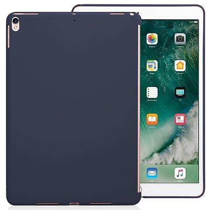 KHOMO Funda iPad Air 3 10.5 (2019) / iPad Pro 10.5 (2017) Carcasa Trasera Ultra Delgada y Ligera Compatible con Smart Cover - Azul Oscuro