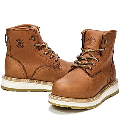 ROCKROOSTER Mens Work Boots, Soft Toe, 6'' Safety Shoes, EH, Anti-Fatigue(AP615 12) | Industrial & Construction Boots