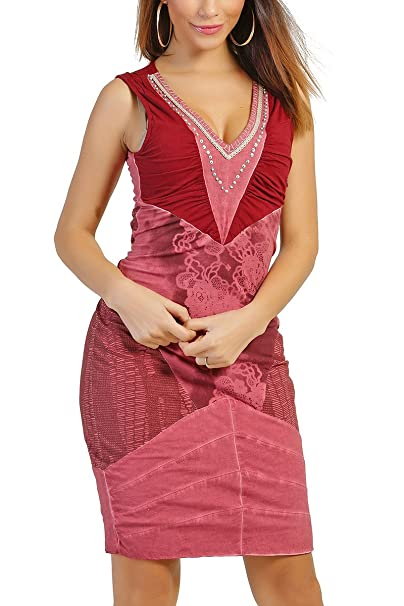 INFINIE PASSION Vestido - Ajustado - para Mujer Granate 40