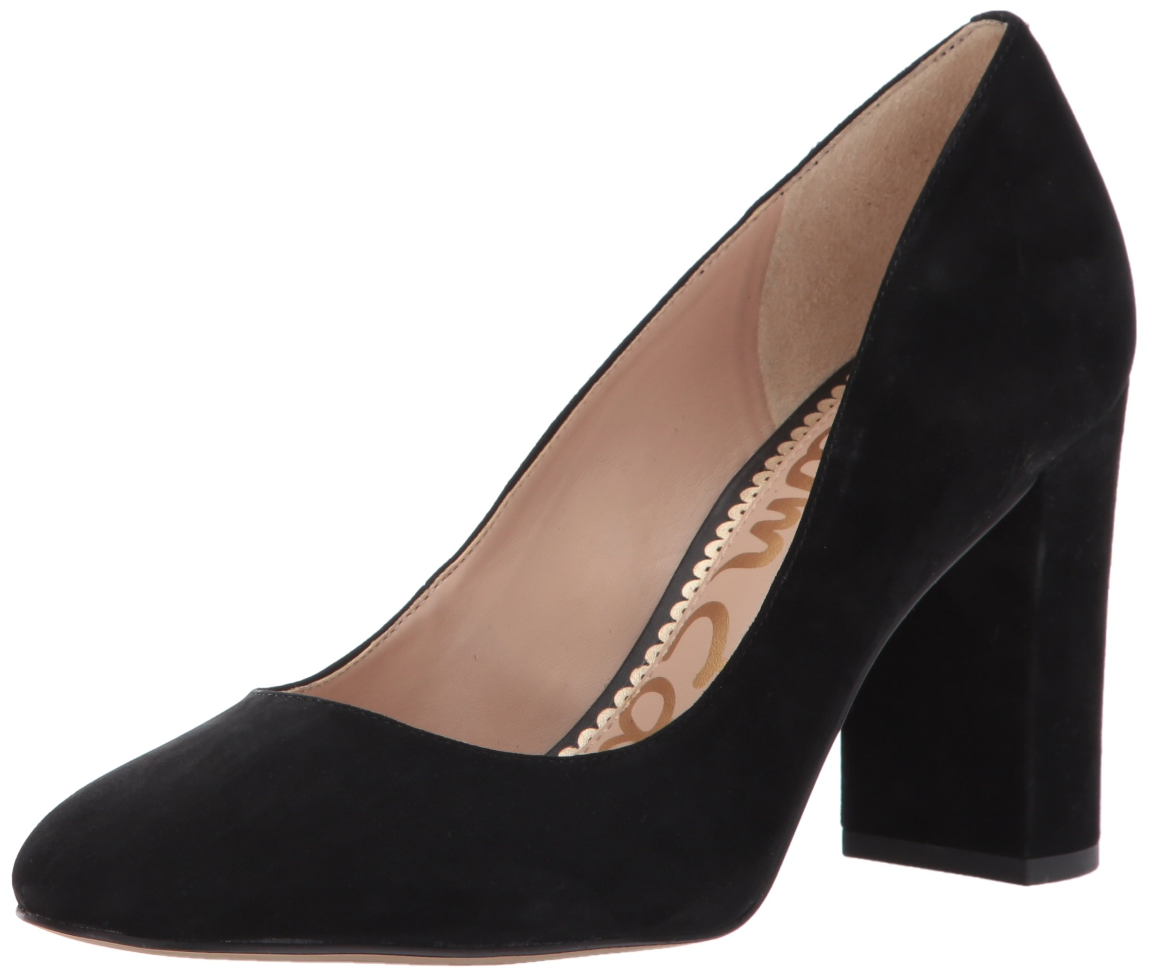 Sam Edelman Women's Stillson Pump, Black Suede, 7.5 M US