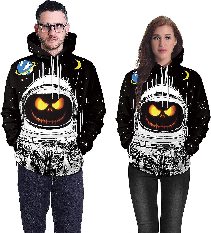 Honeystore Scary Halloween Pumpkin Devil Ghost Hoodie 3D Print Hooded Sweatshirt