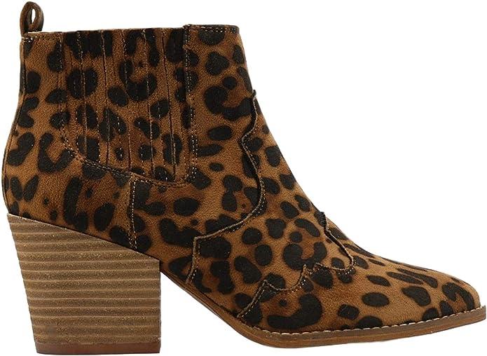 beast fashion leopard booties