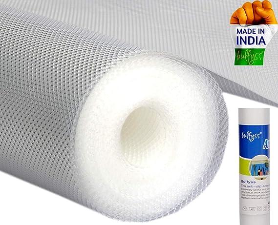 Bulfyss Multipurpose PVC Textured Super Strong Anti-Slip Mat Liner (Transparent White, 45 X 500…