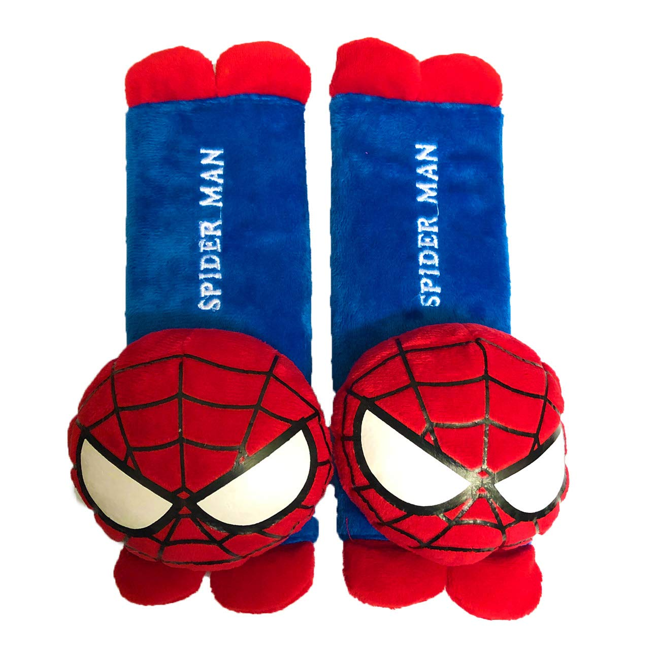 Car Seat Strap Belt Covers for Kids, 2 Pack Cute Cartoon Automative Vehicle Car Safety Seatbelt Cover, Soft Plush Shoulder Neck Comfort Padded Seat Belt Protector, Gift for Christmas Spider Man by MuTouNiao