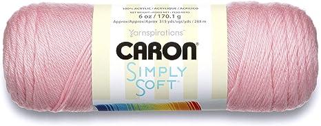 Machine Wash /& Dry Caron Simply Soft Solids Yarn - Pink 4 6 oz Medium Gauge 100/% Acrylic