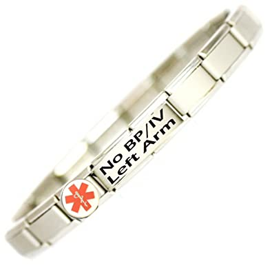 No BP/IV Right Arm Medical ID Alert Bracelet. GTF4w