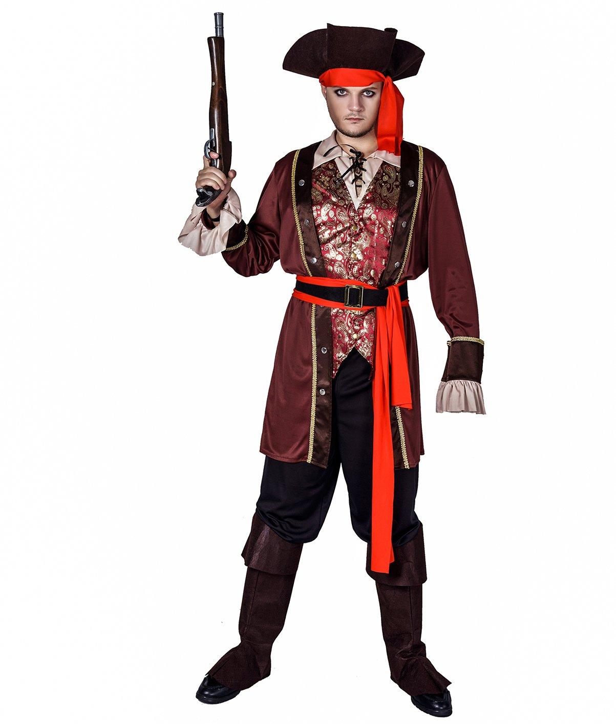 SEA HARE Trajes Traje del Hombre Pirata Adulto: Amazon.es ...