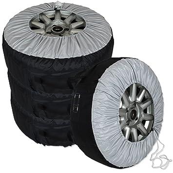 Auto Neumáticos Neumáticos - Carcasa - Neumáticos móvil Funda - Funda para ruedas de coches juego de 4: Amazon.es: Coche y moto