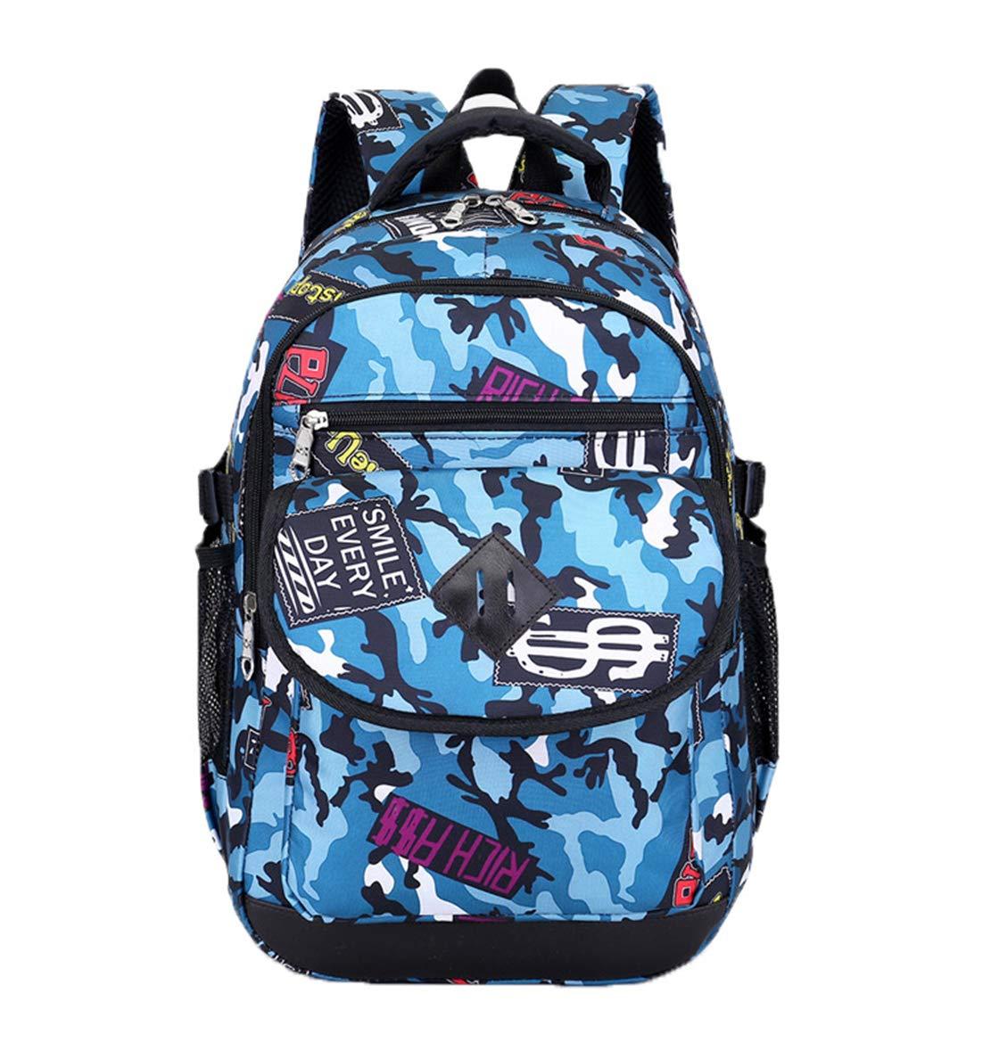 Lisay 30L Grande Sac à Dos Fashion Décontracté Sacoche pc Portable Travail Étudiant Rucksack Camouflage Nylon Bookbag avec Bardage