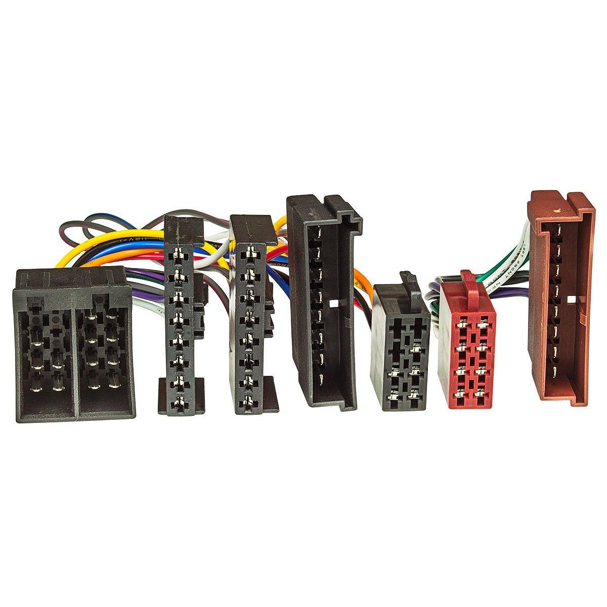 ISO x Adaptador (T-cable) FORD hasta 2004 para manos libres con ISO-conexió n (como. Parrot, THB, Funkwerk dabendorf) tomzz Audio ® 7315-000