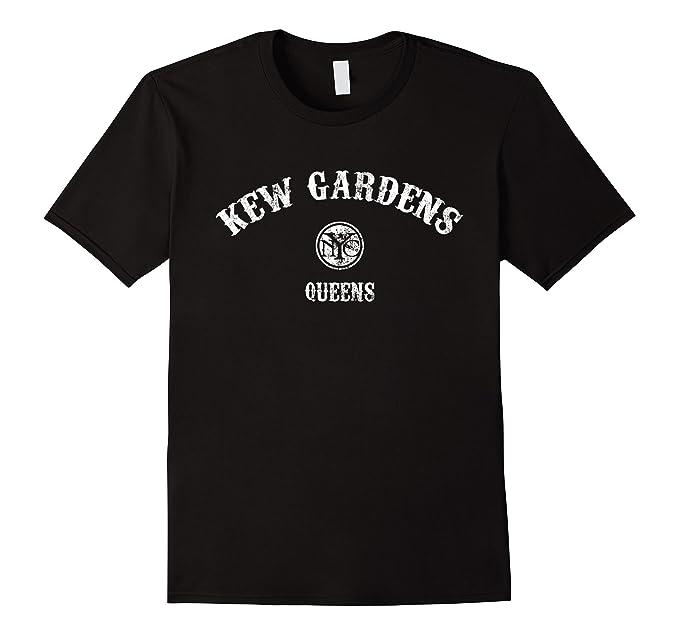 Mens KEW GARDENS T Shirt   Vintage Queens New York City Tee 2XL Black