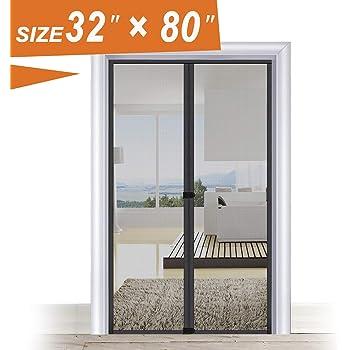 Magic Screen Door 32 x 80, Entry Front Door Fit Door Frame Size Up ...
