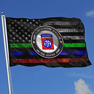 EROOU8W Army 82nd Airborne Division Holiday Home House Garden Courtyard Lawn Patio Outdoor Decoration Small National Flag 3x5 Ft
