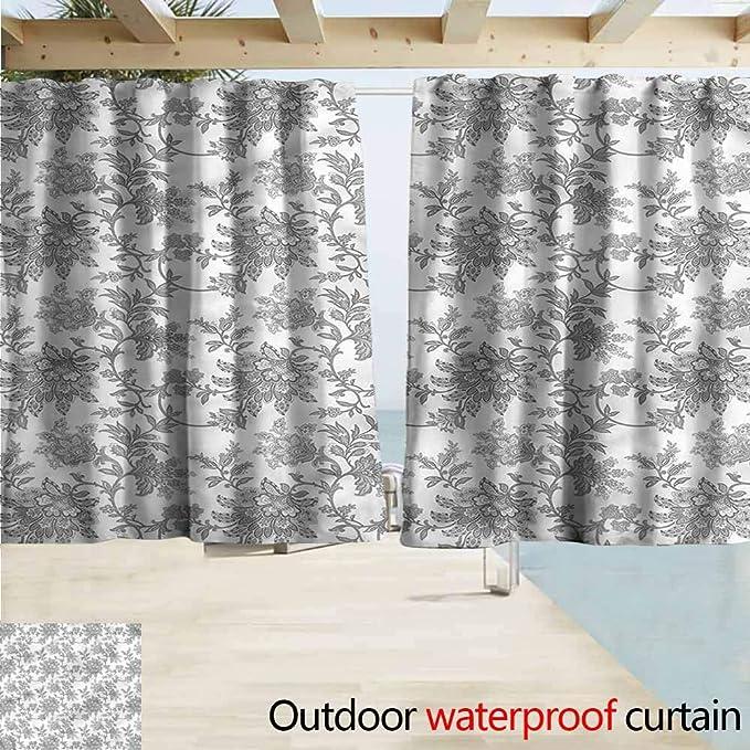 MaryMunger - Cortina para Puerta corredera, diseño Floral, Color otoño, Cortinas Opacas para Dormitorio: Amazon.es: Jardín