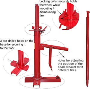 HTTMT- Manual Portable Hand Tire Changer Bead Breaker Tool Mounting Home Shop Auto NEW [P/N: US-ET-TOOL004-RED2]