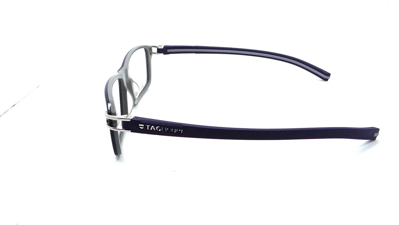 Tag Heuer Track S Rx Eyeglasses Frames Th 7601 003 55x17 Shiny Blue Grey