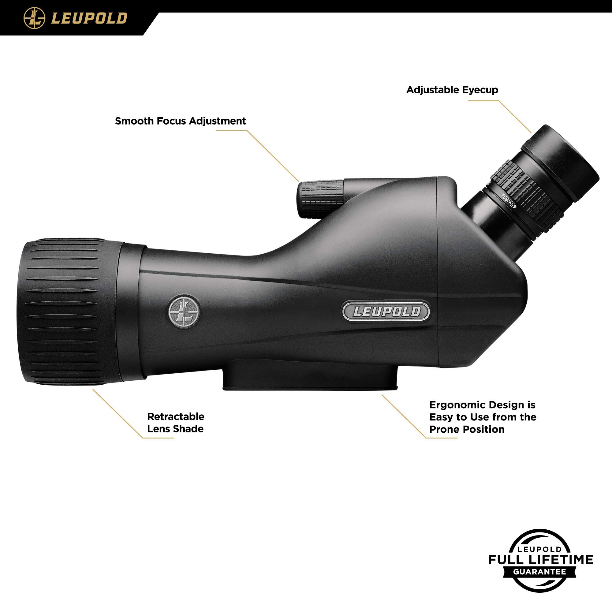 Leupold SX-1 Ventana 2 15-45x60mm Angled Spotting Scope, Black Finish by Leupold (Image #3)