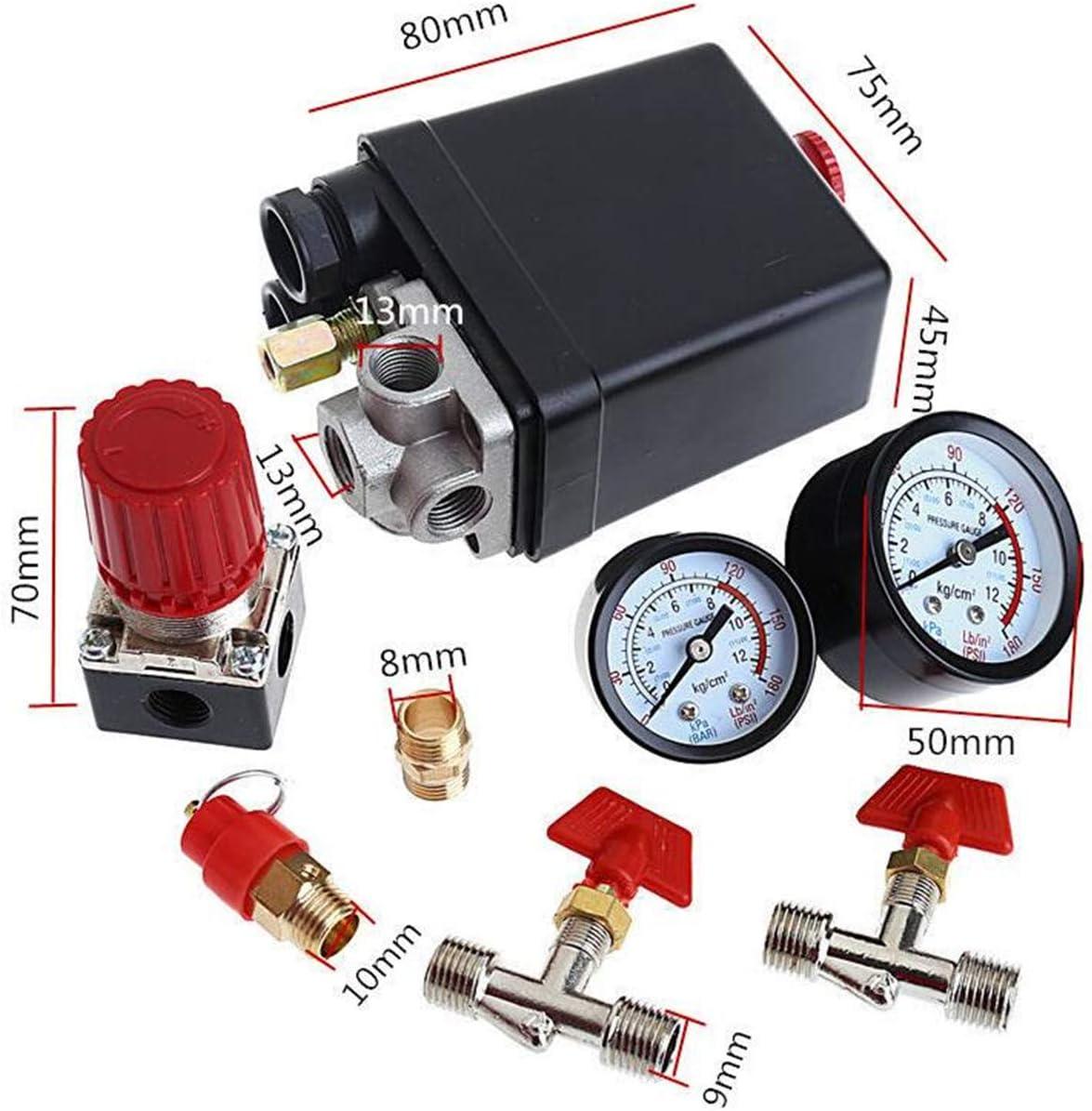 Druckschalter Luftkompressor Ventil Mit Kontrolle 90 120 Psi Druckregler Baumarkt