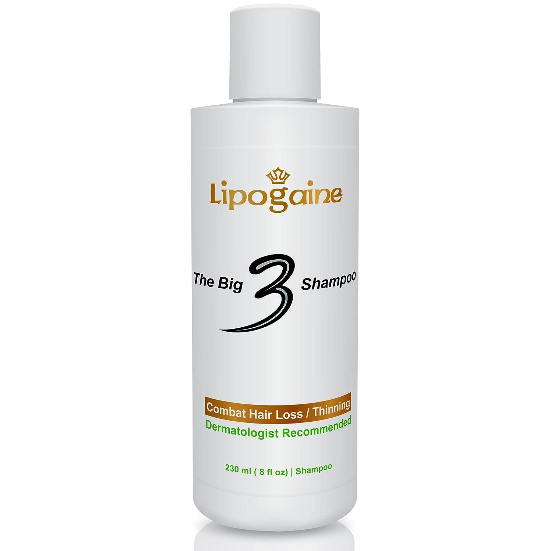 Lipogaine Big 3 Premium Hair Loss Prevention shampoo for Men and Women (2 in 1 formula)- 8 oz. Lipo_3_shampoo_8oz