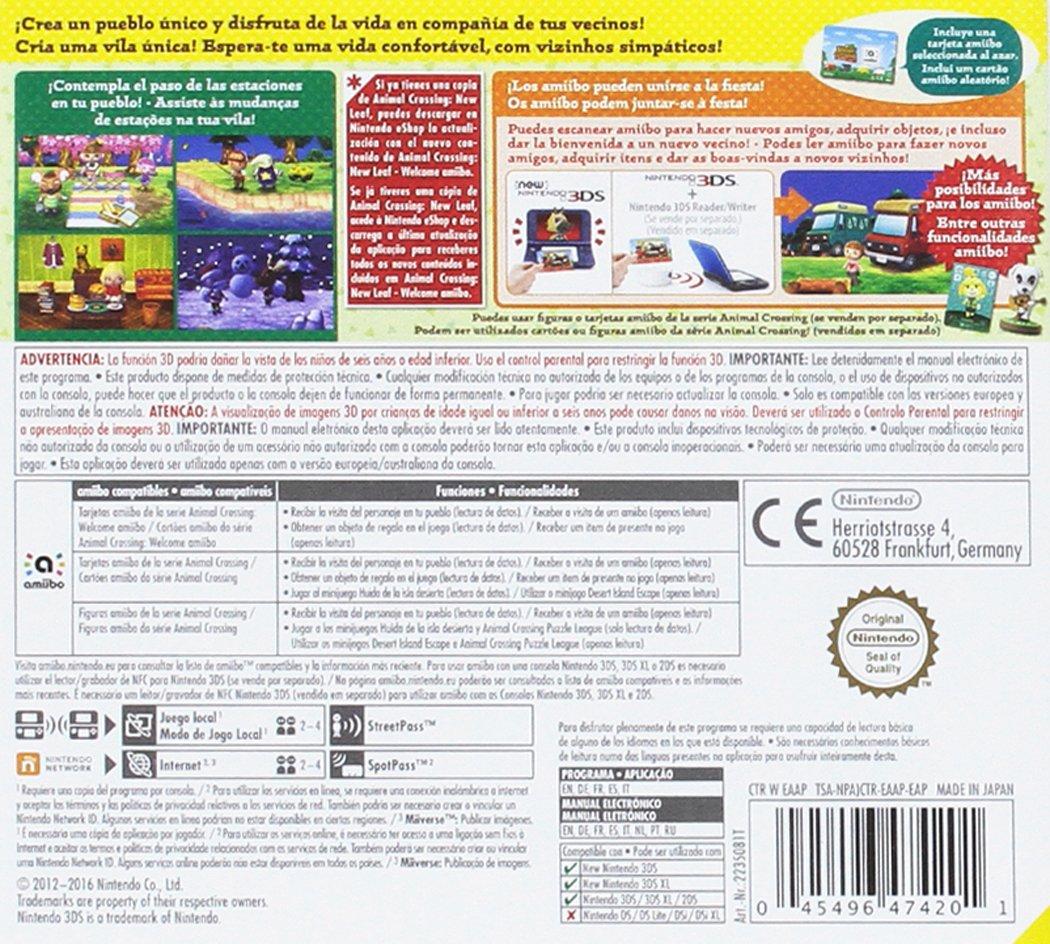 Animal Crossing: New Leaf Welcome amiibo! + Tarjeta amiibo ...