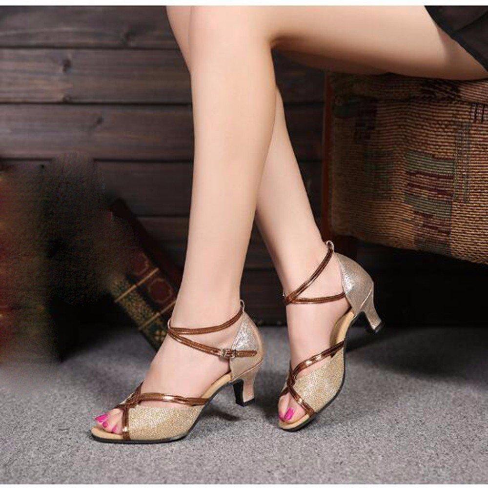 Masocking@ Damen Tanzschuhe Sandalen Sommer Moderne weichen Boden Pailletten