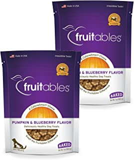 product image for Fruitables Baked Dog Treats Pumpkin & Blueberry Flavor (2 Pack) 7 oz Each