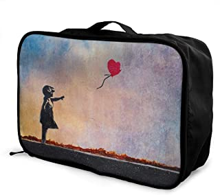 There Is Always Hope Balloon Girl Travel Lightweight Storage Luggage Case Portable Travel Duffel Bag