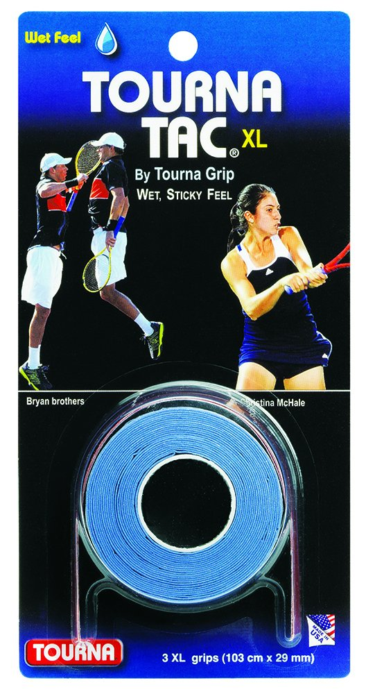 Amazon.com : Tourna Tac, Tacky Feel Tennis Grip, 3 (Black, X-Large) : Tennis Racket Grips : Sports & Outdoors