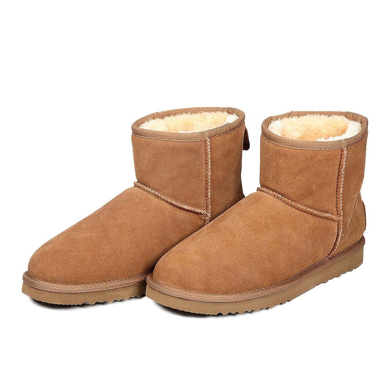 AUSLAND Women's Water Resistant Classic Leather Short Snow Boots 5154